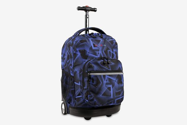 J World New York Sunrise Rolling Backpack