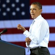 US President Barack Obama speaks during a campaign event at the University of Vermont in Burlington, Vermont, on March 30, 2012. Obama is on a day trip to Vermont and Maine to attend campaign events.