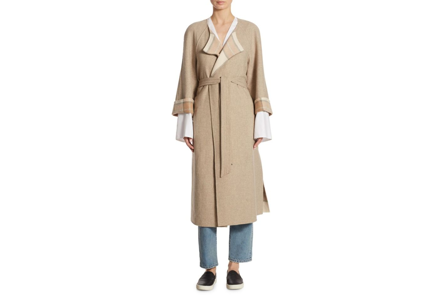 Elizabeth and James Alrick Reversible Wool Coat