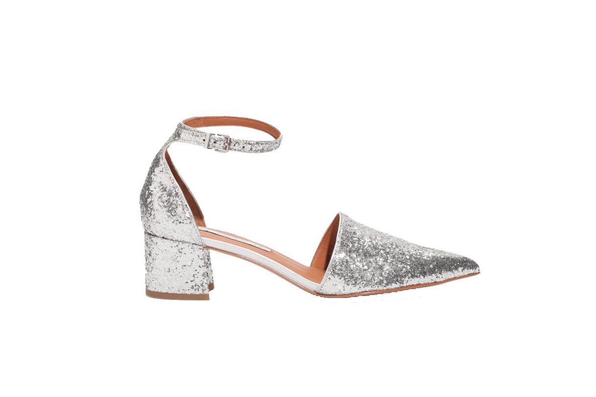 Silver-Sequin Flats