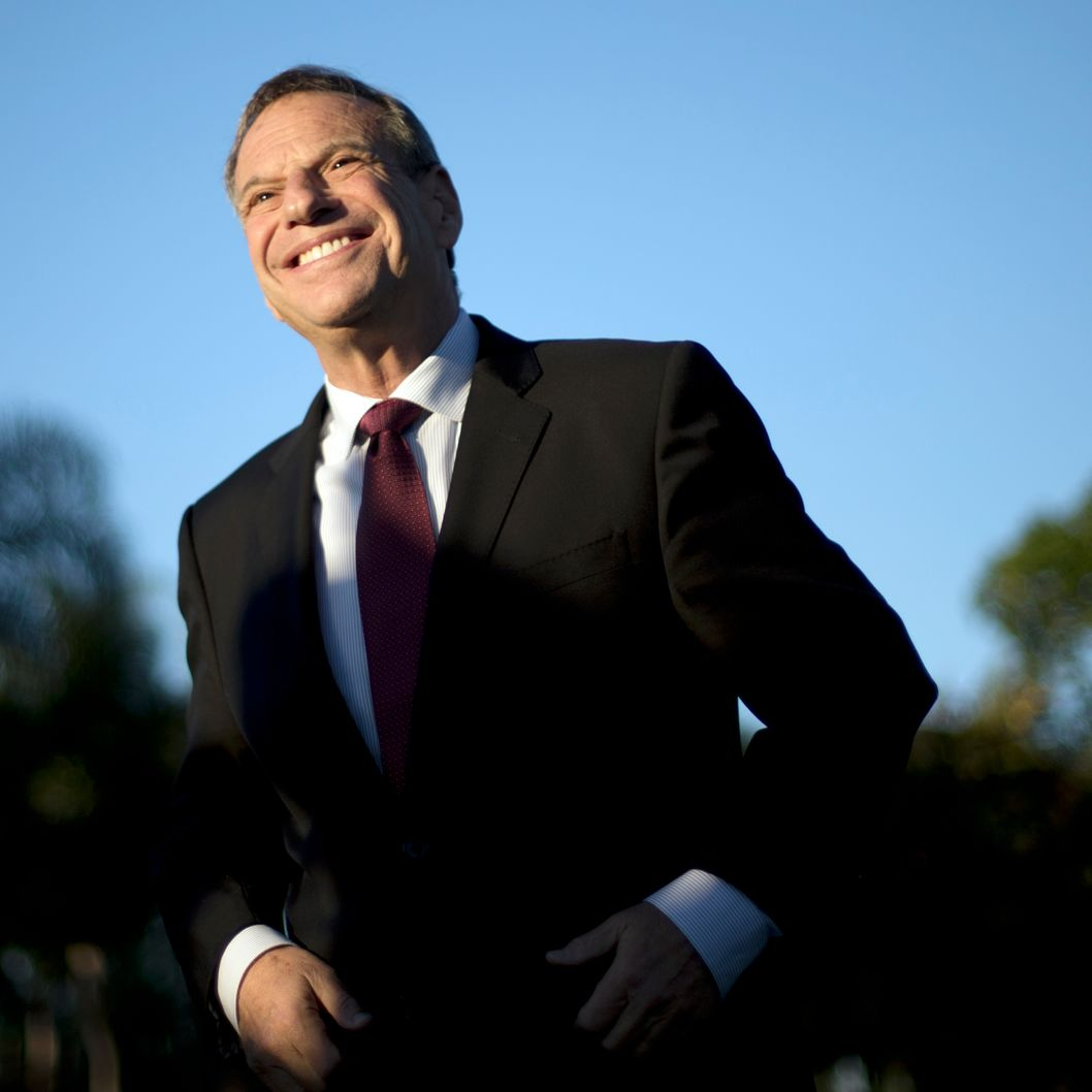 FILE - This Nov. 7, 2012 file photo shows San Diego Mayor Bob Filner smiling during a news conference at a park in San Diego. A prominent onetime supporter of Mayor Filner is calling for him to resign after less than a year in office amid allegations that he sexually harassed women. (AP Photo/Gregory Bull, File)