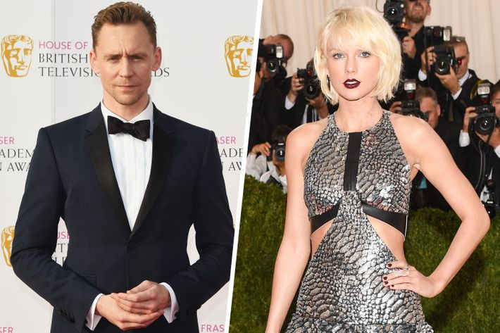 Taylor Swift and Tom Hiddleston.
