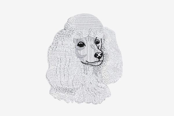Poodle Embroidered Applique Patch
