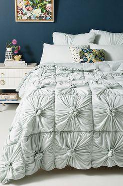 Lazybones Organic Rosette Jersey Quilt