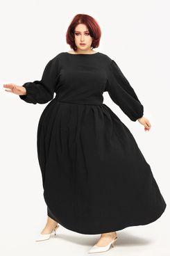 """Emily"" Pleated Dress Black"