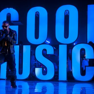 AUSTIN, TX - MARCH 19: Kanye West performs during VEVO Presents: G.O.O.D. Music at VEVO Power Station on March 19, 2011 in Austin, Texas. (Photo by Daniel Boczarski/Getty Images for VEVO) *** Local Caption *** Kanye West