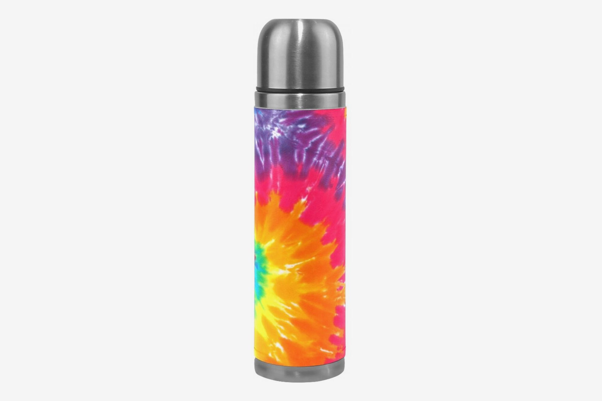 ALAZA Tie Dye Double Wall Water Bottle Stainless Steel Vacuum Insulated Thermos Flask