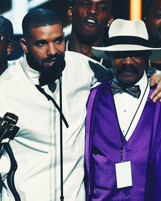 Drake and his father, Dennis Graham.