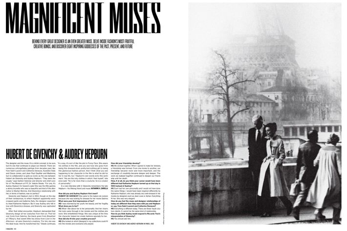 A spread from <em>V</em>'s new issue.