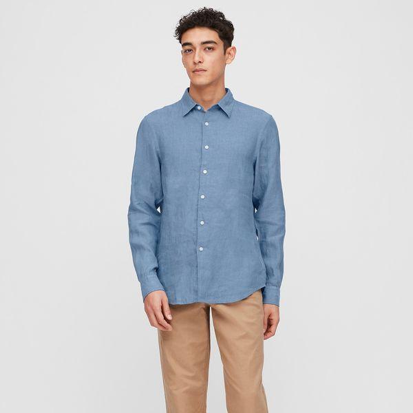 Men 100% Premium Linen Regular Fit Shirt