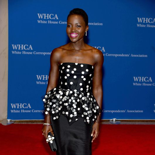 Actress Lupita Nyong'o attends the 100th Annual White House Correspondents' Association Dinner at the Washington Hilton on May 3, 2014 in Washington, DC.