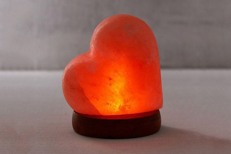 Mini USB Heart Himalayan Salt Lamp