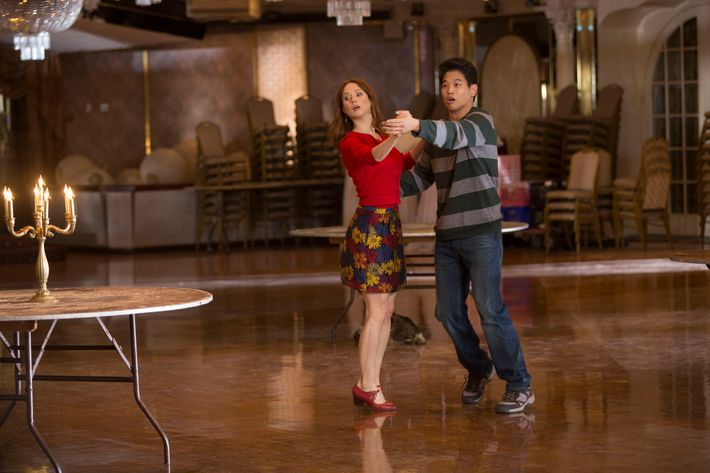 Ellie Kemper as Kimmy, Ki Hong Lee as Dong.