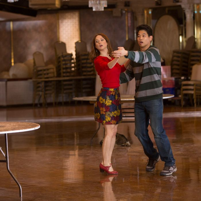 Ellie Kemper as Kimmy, Ki Hong Lee as Dong.