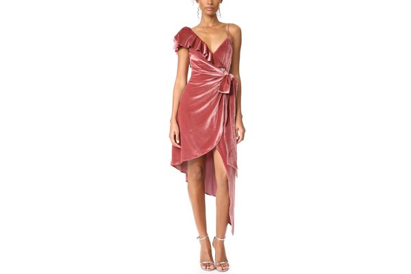 Self Portrait Devore Wrap Dress