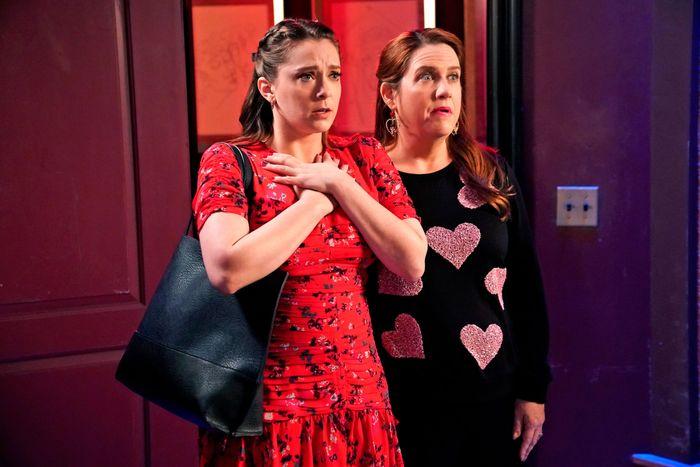 Rachel Bloom and Donna Lynne Champlin in Crazy Ex-Girlfriend.