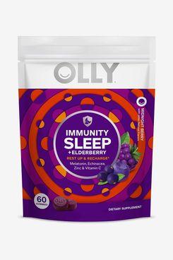 Olly Immunity Sleep + Elderberry Melatonin Gummy Supplements
