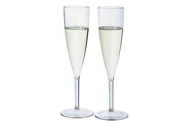 Premium Quality Plastic 5-oz. Champagne Flute, Set of 12