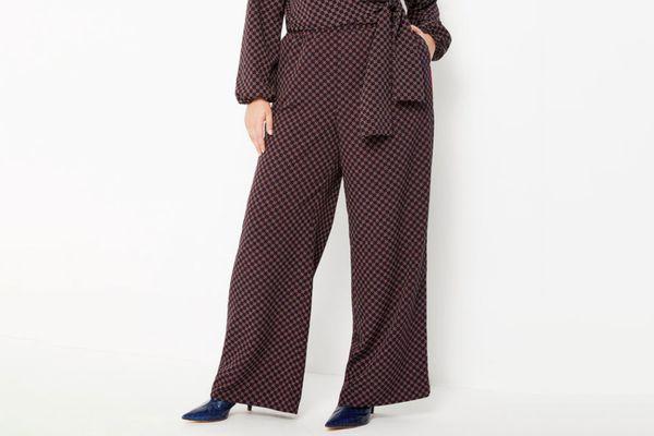 Eloquii Printed Wide Leg Pajama Pant