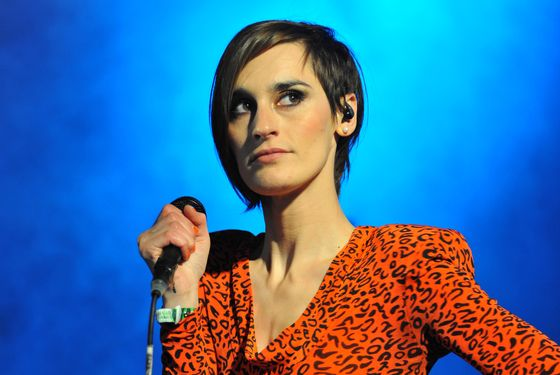 LONDON, UNITED KINGDOM - JUNE 12: Yelle performs on stage during Get Loaded In The Park at Clapham Common on June 12, 2011 in London, United Kingdom. (Photo by C Brandon/Redferns)