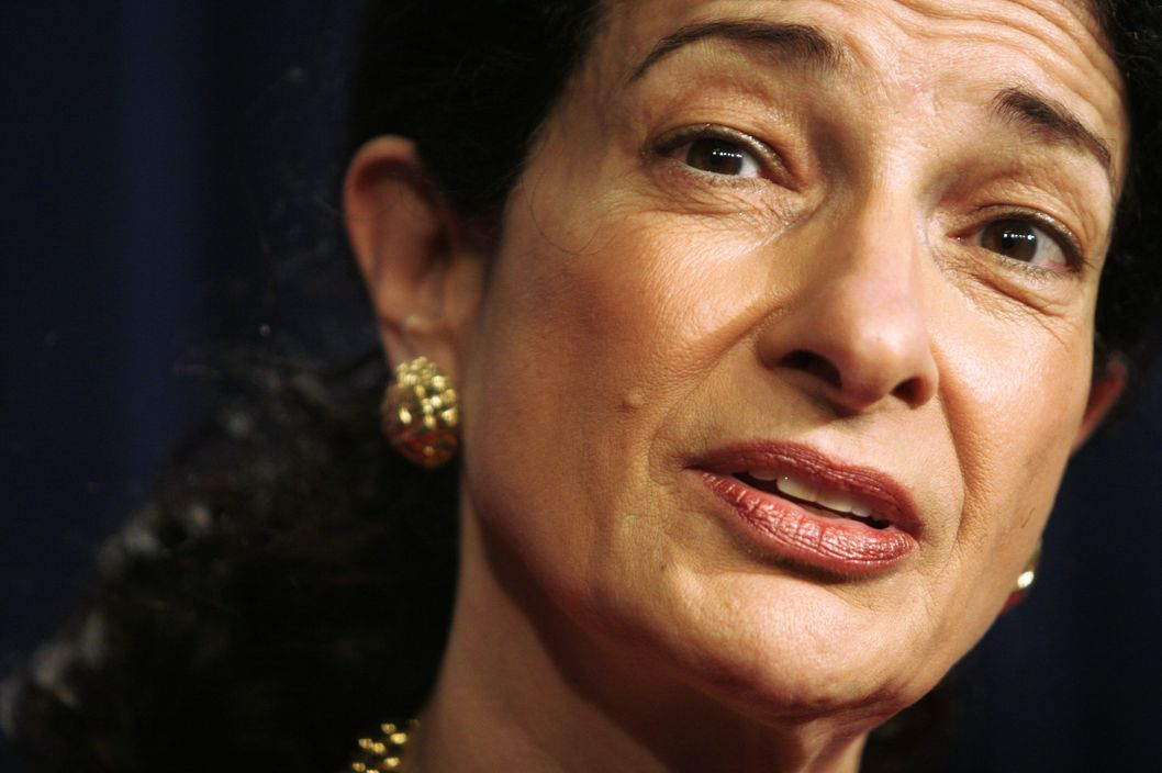 U.S. Sen. Olympia Snowe (R-ME) pictured on February 9, 2005 in Washington, DC.