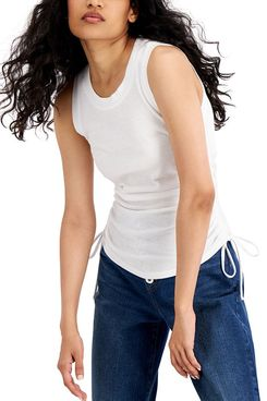 INC International Concepts Ruched Side-Tie Tank Top