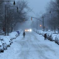 A Brooklyn street is viewed the morning after a major winter storm on January 27, 2015 in New York City. Despite dire predictions, New York City was spared the worst of the storm, receiving up to a foot of snow in some areas. Subway buses were closed overnight while roadways were open only to emergency vehicles.
