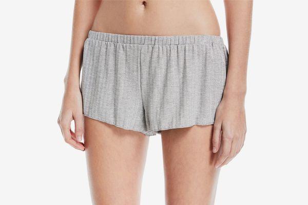 Cosabella Minimalista Rib-Knit Tap Shorts