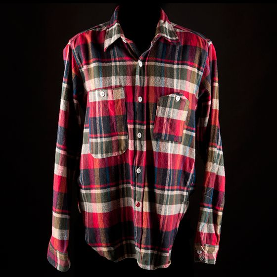 "He'll probably wear this <b>Engineered Garments flannel shirt</b> buttoned all the way up. You'll probably wear it open with the sleeves rolled.     Engineered Garments Multi-colored Workshirt, $195 at <a href=""http://www.odinnewyork.com/search.asp?Mode=Product&Type=Shop&TypeID=18&ProductID=1908"">odinnewyork.com</a>"