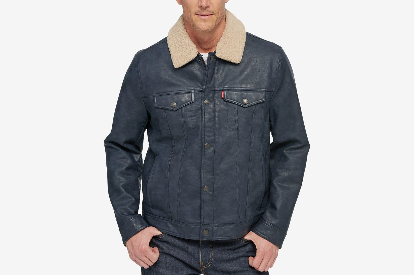 Levi's Men's Faux Leather Trucker Jacket