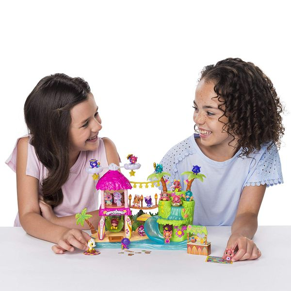 A Hatchimals CollEGGtibles tropical party playset with two towers connected by a bridge, and plenty of accessories. The Strategist - Highly Coveted Hatchimals and Hatchimal Accessories Are Up to 73 Percent Off