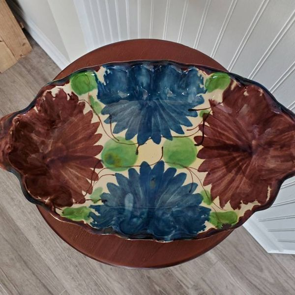 Large Antique Vintage Handmade Tray