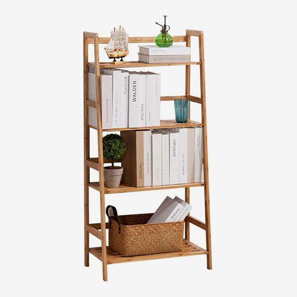 sogesfurniture Bamboo Ladder Shelf
