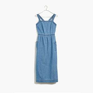 Denim Apron Midi Dress