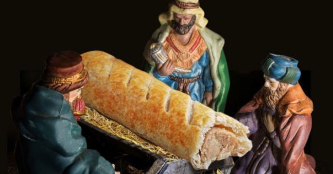 Bakery Chain Apologizes for Using Sausage Roll As Jesus in Nativity Scene