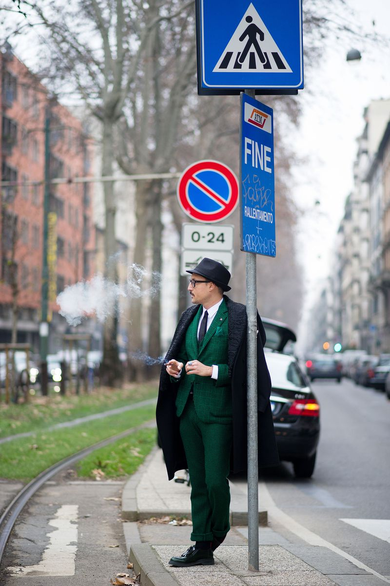Il Fabri Street Style Milan Men 39 S Fashion Week The Cut
