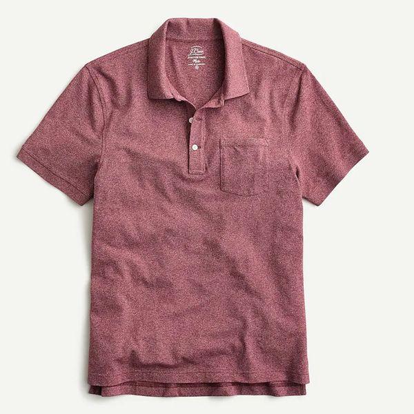 J.Crew Stretch Piqúe Marled Polo Shirt