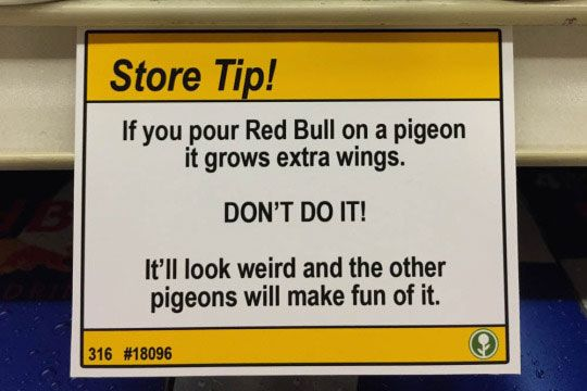 Don't test out Red Bull's slogan.