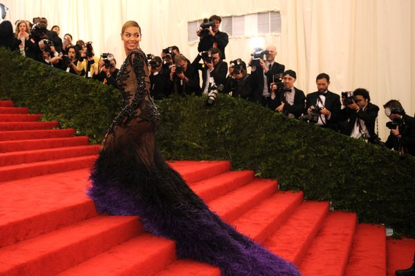 Beyonce attends the Costume Institute Benefit at The Metropolitan Museum of Art May 7, 2012, celebrating the opening of Schiaparelli and Prada: Impossible Conversations.  AFP PHOTO /  TIMOTHY A. CLARY        (Photo credit should read TIMOTHY A. CLARY/AFP/GettyImages)