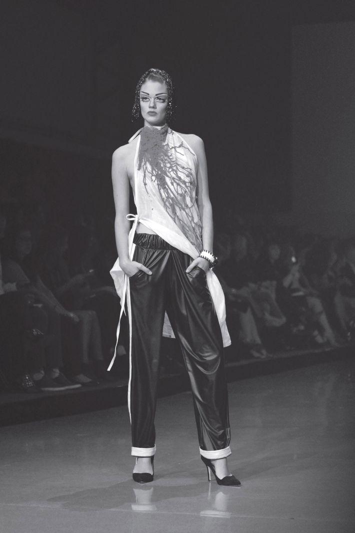 Denis Gagnon's transgender show at Montreal Fashion Week.