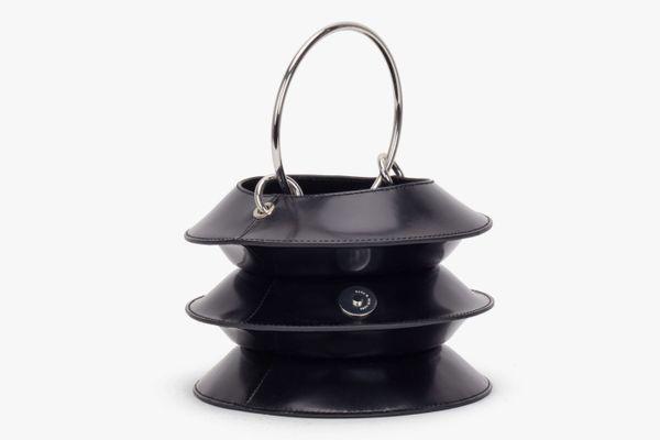 KARA Black Pinch Lantern Bag