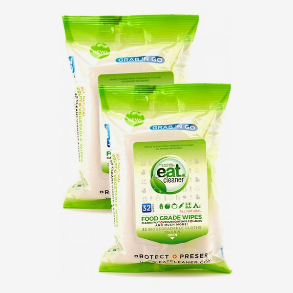 Eat Cleaner Fruit and Veggie Wipes, 2-Pack