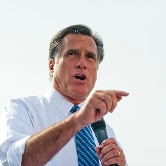 PORTSMOUTH, OH - OCTOBER 13: Republican presidential candidate, former Massachusetts Gov. Mitt Romney speaks to a crowd at Shawnee State University October 13, 2012 in Portsmouth, Ohio. The Romney and Obama campaigns have been concentrating their efforts on Ohio to gain more supporters as Election Day approaches. (Photo by Ty Wright/Getty Images)
