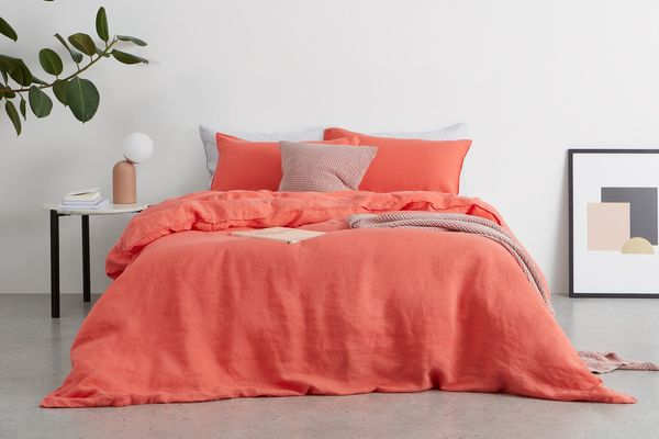 MADE Brisa Linen Duvet Cover + 2 Pillowcases Double