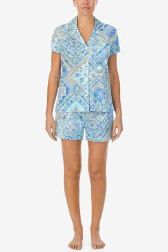 Lauren Ralph Lauren Printed Knit Shorts Pajama Set