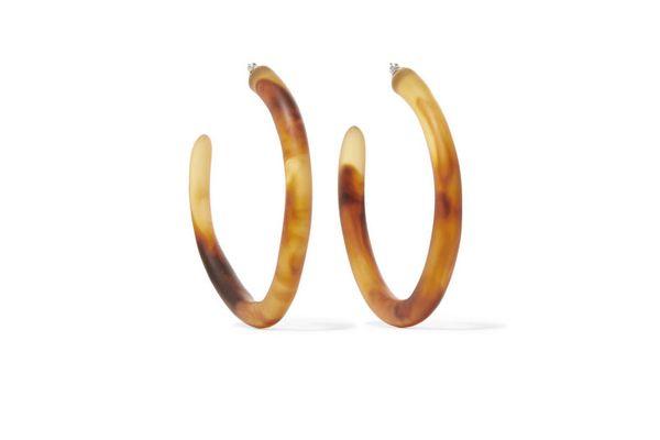 Dinosaur Designs Resin hoop earrings
