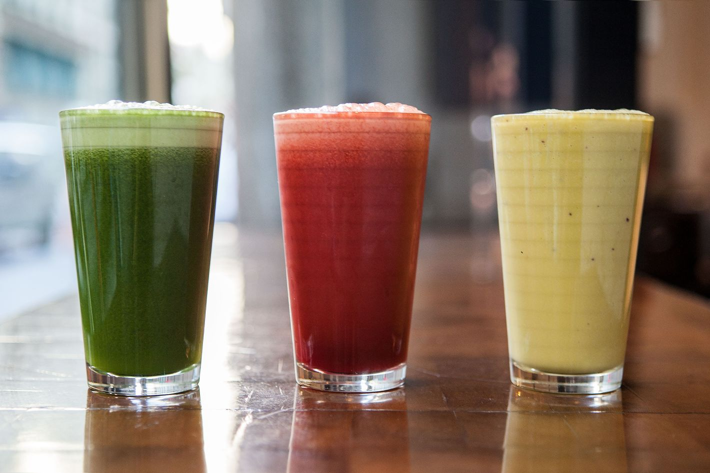 New juices at City Bakery.