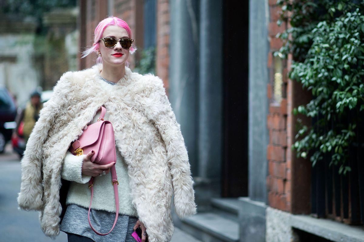 Milan Street Style, Day 2: Pink Hair and Fendi
