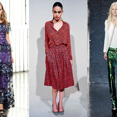From left: Rodarte; J.Crew; Theyskens' Theory.