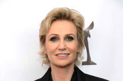 Actress Jane Lynch arrives at the 2013 WGAw Writers Guild Awards at JW Marriott Los Angeles at L.A. LIVE on February 17, 2013 in Los Angeles, California.
